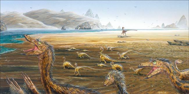 """Thảm kịch """"chết tập thể"""" ở khủng long chưa trưởng thành"""