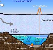 Đã có mẫu mới của khu hồ bí ẩn Vostok
