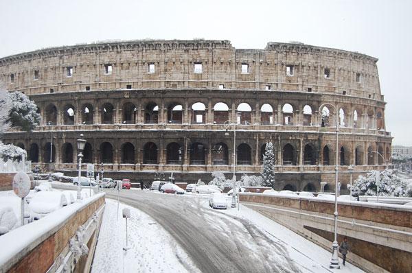 Mưa tuyết kỷ lục đe dọa các di tích lịch sử Italy