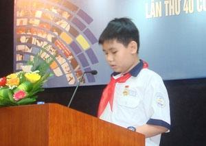 Ấn tượng bức thư đoạt giải nhất UPU 40 của cậu bé lớp 8
