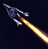 Tàu vũ trụ SpaceShipTwo thử nghiệm hiệu suất tên lửa