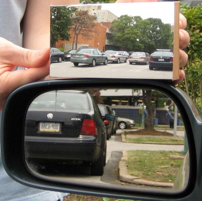 Phát minh ra loại gương có góc nhìn rộng hơn nhiều so với gương thường