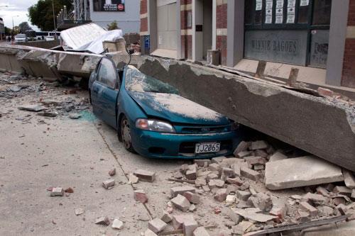 7.500 trận động đất tấn công thành phố New Zealand