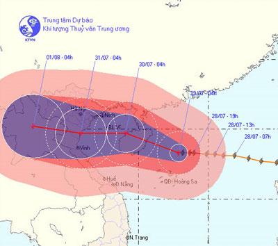 Tin bão gần bờ (Cơn bão số 3)