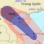 Sáng nay, bão bắt đầu gây mưa ở miền Trung
