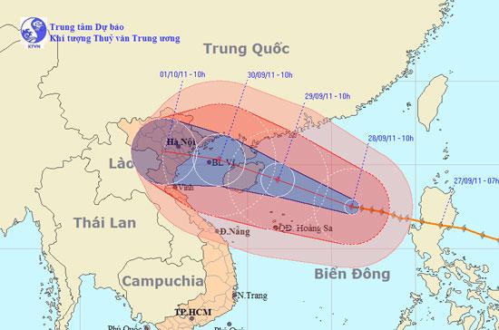 Tin bão trên biển Đông (Cơn bão số 5) - Cập nhật