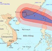Siêu bão Usagi tiến vào biển Đông, gió giật trên cấp 17