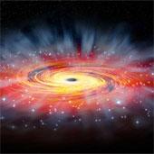 """Lỗ đen khổng lồ của thiên hà """"từ chối thức ăn"""""""