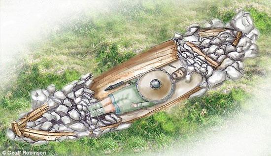 Khai quật ngôi mộ của chiến binh Viking