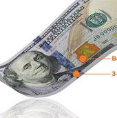 Cách phân biệt thật - giả tiền giấy 100 đôla mới