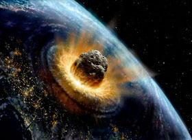 Cảnh thiên thạch đâm vào trái đất