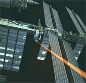Dùng laser truyền video từ ISS xuống mặt đất