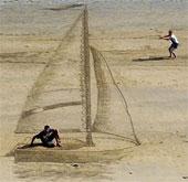 Chiêm ngưỡng những bức tranh 3D tuyệt đẹp trên cát
