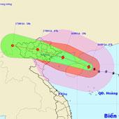 19h tối nay, tâm bão nằm trên vùng biển Quảng Ninh - Hải Phòng