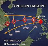 Bão Hagupit có thể đổ bộ Việt Nam vào cuối tuần