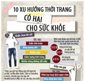 10 xu hướng thời trang có hại cho sức khỏe