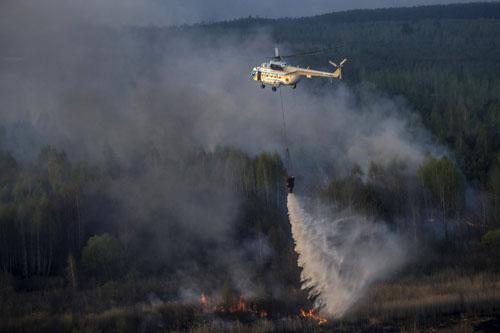Cháy lớn gần nhà máy hạt nhân Chernobyl