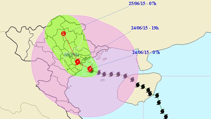 Bão số 1 tấn công Quảng Ninh, Hải Phòng