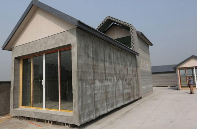 Nhà được làm bằng gỗ in 3D trong tương lai