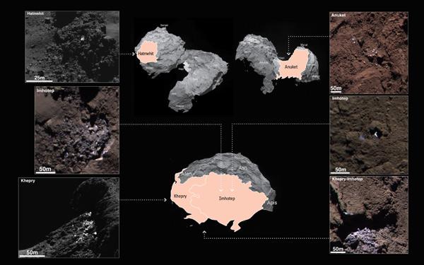Phát hiện dấu hiệu của nước trên bề mặt sao chổi