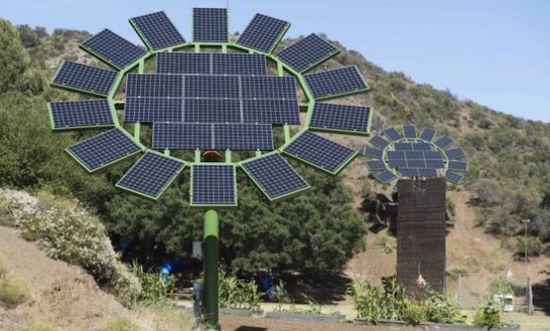 Hệ thống năng lượng mặt trời có khả năng tự động quay