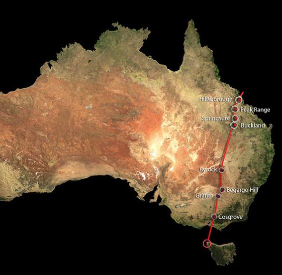 Phát hiện chuỗi núi lửa lục địa dài nhất thế giới