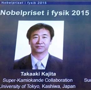 Giải Nobel vật lý 2015 được trao cho nghiên cứu hạt hạ nguyên tử