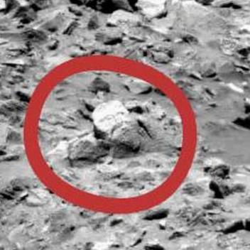 """Các fan cuồng phát hiện """"vị thần cổ đại"""" trên sao Hỏa"""