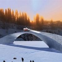 Cầu băng dài nhất thế giới có thể chịu tải xe hai tấn