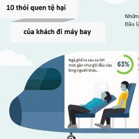 10 thói quen tệ hại của khách đi máy bay