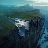 Xẻ vách đá xây khu nghỉ dưỡng cheo leo trên biển