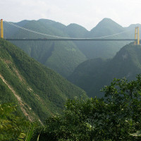 Cây cầu cao nhất thế giới ở Trung Quốc