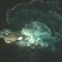 Vật thể nghi là quái vật mực dài 120m trong ảnh Google Earth