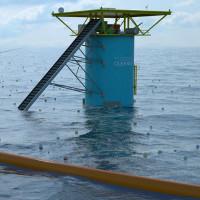 Tham vọng dọn rác đại dương bằng hàng rào cao su