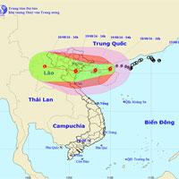 Bão số 3 giật cấp 14, đang tiến về Quảng Ninh - Thanh Hóa