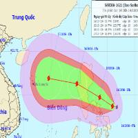 Xuất hiện cơn bão mới gần biển Đông