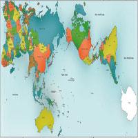 Ngỡ ngàng với tấm bản đồ Trái Đất được vẽ chính xác nhất