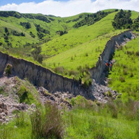 """""""Tường thành"""" xuất hiện sau động đất ở New Zealand"""