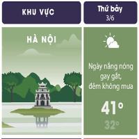 Nắng nóng Hà Nội lên đỉnh 41 độ C hôm nay