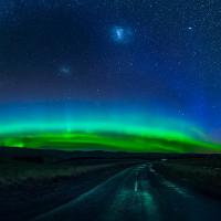 """""""Vũ điệu cực quang"""" lộng lẫy đêm New Zealand"""
