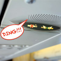 """Tiếng """"ding"""" trên máy bay có ý nghĩa gì?"""