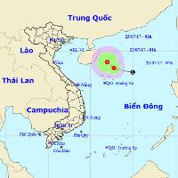 Áp thấp nhiệt đới mới mạnh dần hơn trên biển Đông
