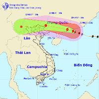Bão số 6 áp sát biên giới Việt-Trung, miền Bắc sắp mưa rất to