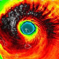 """Sức mạnh hủy diệt của bão """"quái vật"""" Irma nhìn từ vệ tinh"""