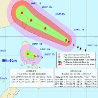 Thông tin mới nhất về cơn bão Talim và áp thấp nhiệt đới trên biển Đông