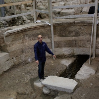 """Phát hiện dấu tích nhà hát thời La Mã dưới chân """"Bức tường Than khóc"""""""