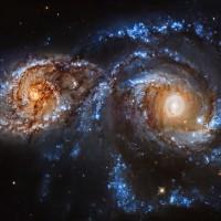 Vụ va chạm thiên hà cách Trái Đất 80 triệu năm ánh sáng