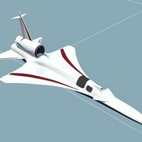 Máy bay siêu thanh không gây ồn sử dụng động cơ tiêm kích