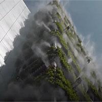 Tòa nhà phun sương làm mát thông minh ở Trung Quốc