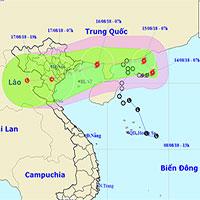 Bão số 4 giật cấp 10, hướng về Quảng Ninh - Nam Định